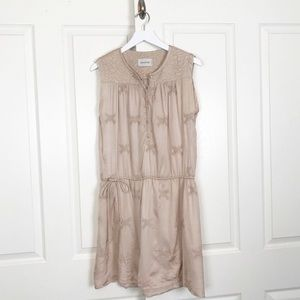 Zadig & Voltaire Rafi Embroidered Blush Dress
